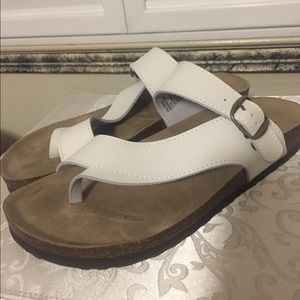 White Mountain Cork Bed Sandals